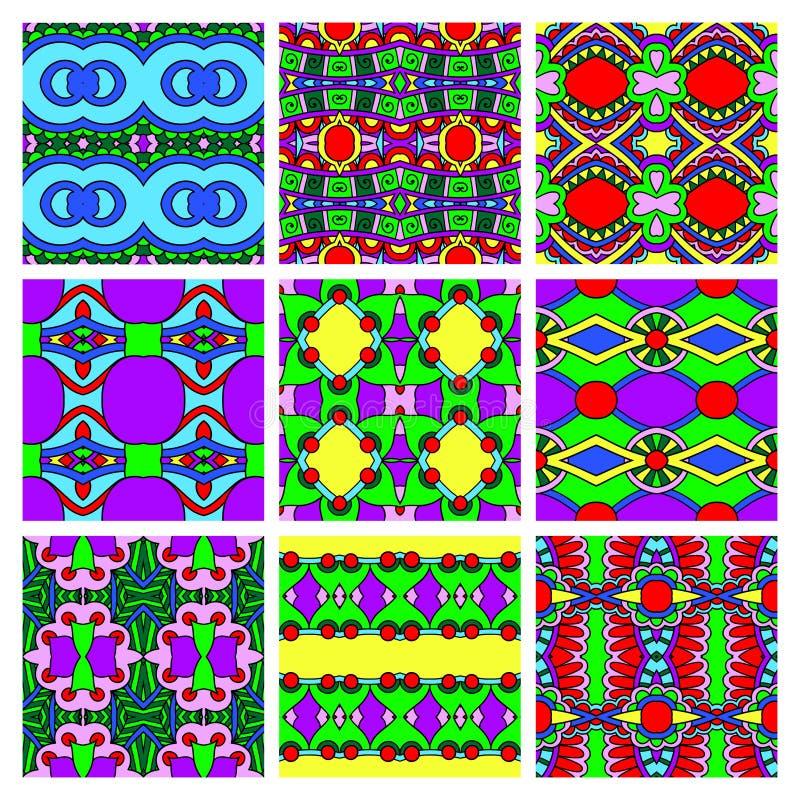 Σύνολο διαφορετικού άνευ ραφής χρωματισμένου τρύού ελεύθερη απεικόνιση δικαιώματος