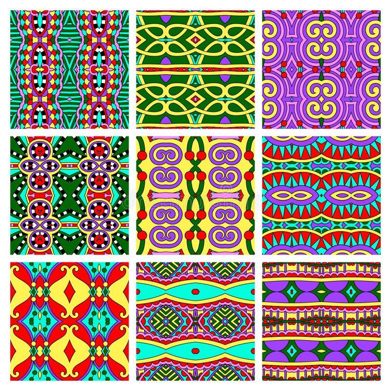 Σύνολο διαφορετικού άνευ ραφής χρωματισμένου τρύού απεικόνιση αποθεμάτων