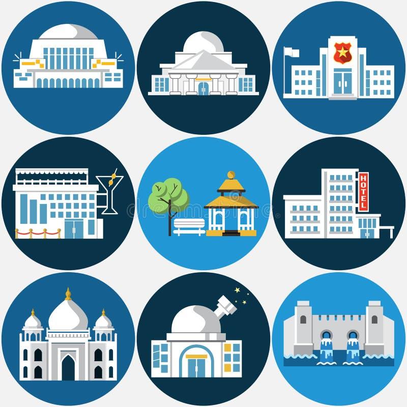 Σύνολο διαφορετικών κτηρίων στοκ εικόνα με δικαίωμα ελεύθερης χρήσης