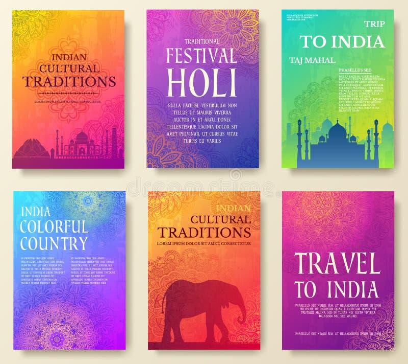 Σύνολο ινδικής έννοιας απεικόνισης διακοσμήσεων χωρών Τέχνη παραδοσιακή, αφίσα, βιβλίο, αφίσα, αφηρημένα, οθωμανικά μοτίβα στοκ φωτογραφία