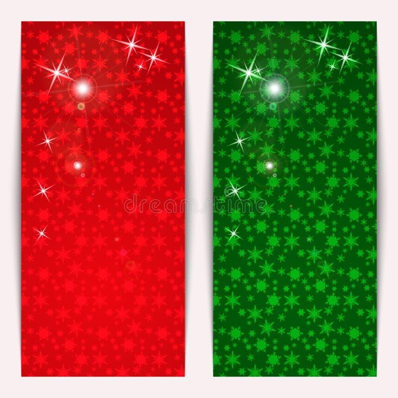Σύνολο κάθετων εμβλημάτων Χριστουγέννων ελεύθερη απεικόνιση δικαιώματος