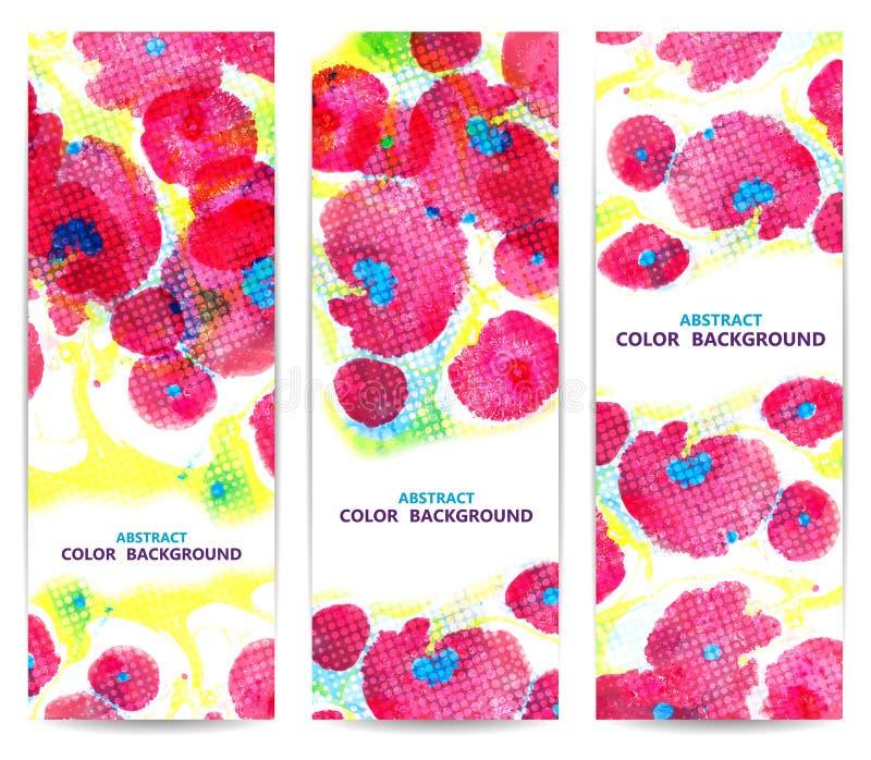 Σύνολο κάθετων floral εμβλημάτων ή υποβάθρων με ελεύθερη απεικόνιση δικαιώματος