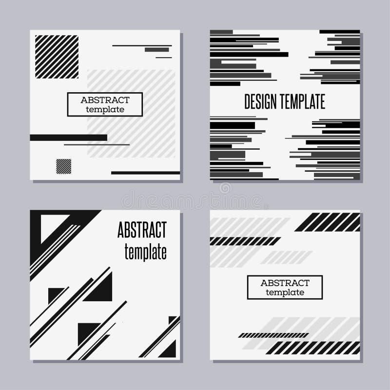 Σύνολο καθιερωνουσών τη μόδα καρτών με το επίπεδο σχέδιο διανυσματική απεικόνιση