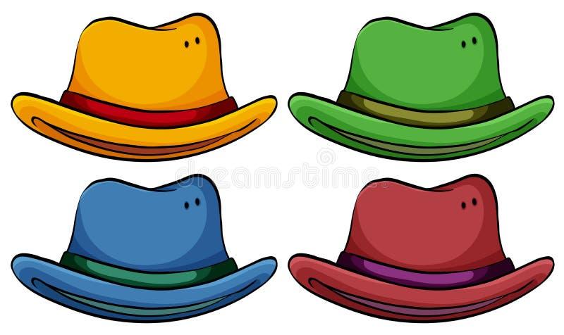 Σύνολο καπέλων διανυσματική απεικόνιση