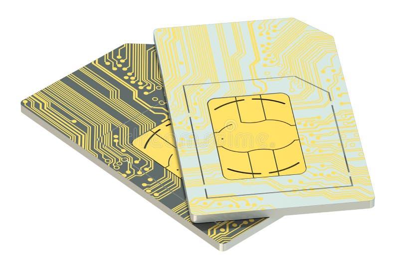Σύνολο καρτών SIM ελεύθερη απεικόνιση δικαιώματος
