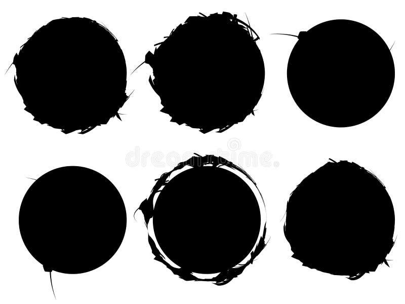 Σύνολο κατασκευασμένων, τραχιών και βρώμικων στοιχείων που απομονώνονται στο λευκό EL διανυσματική απεικόνιση
