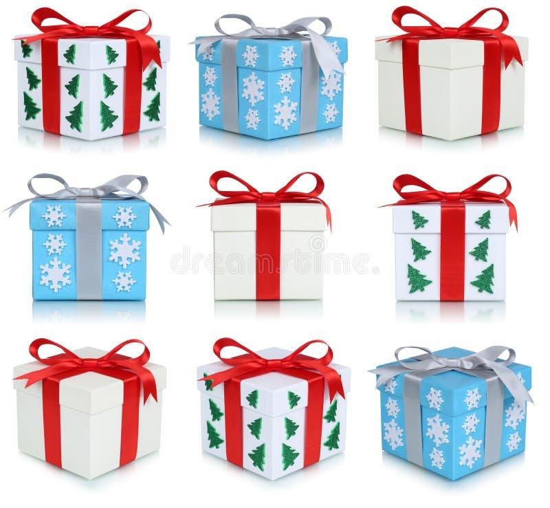 Σύνολο κιβωτίων δώρων Χριστουγέννων δώρων ελεύθερη απεικόνιση δικαιώματος