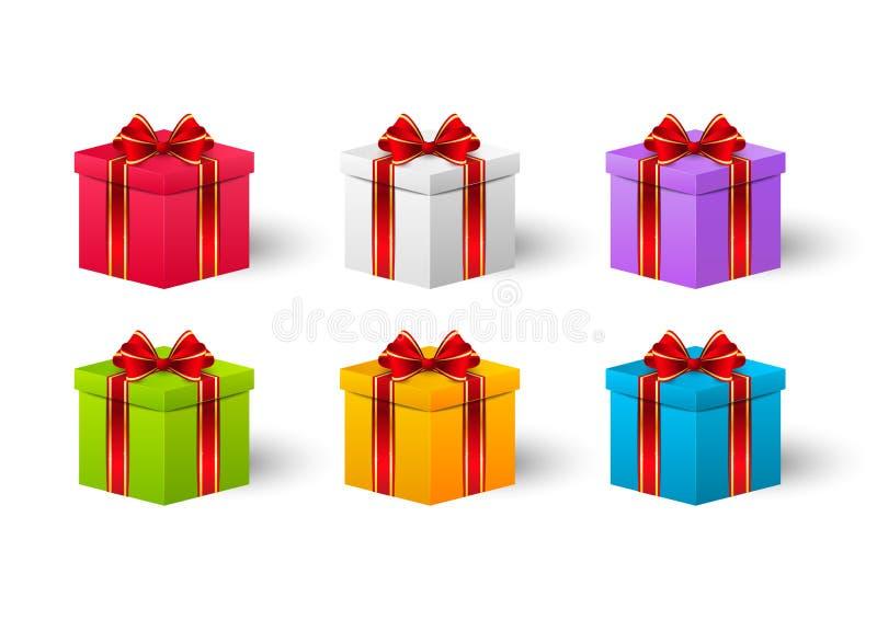 Σύνολο κιβωτίων δώρων απεικόνιση αποθεμάτων