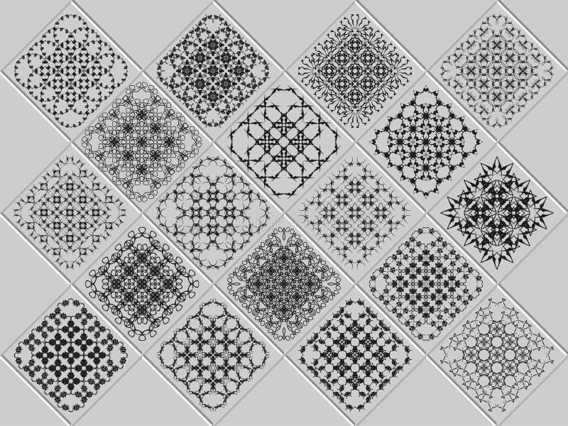 Σύνολο κομψού σχεδίου μονογραμμάτων απεικόνιση αποθεμάτων