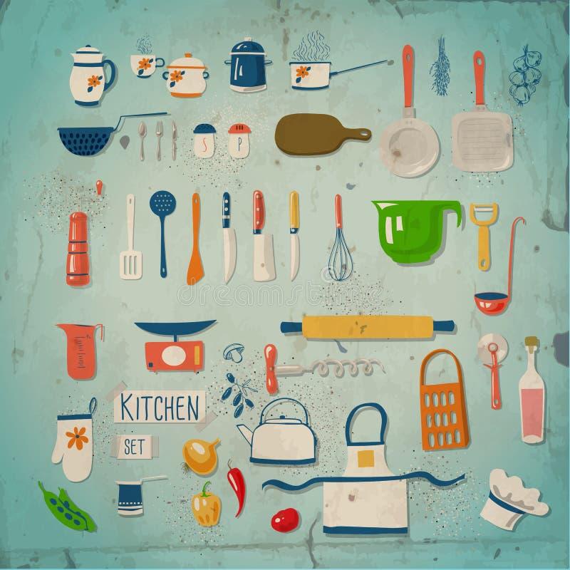 Σύνολο κουζινών διανυσματική απεικόνιση
