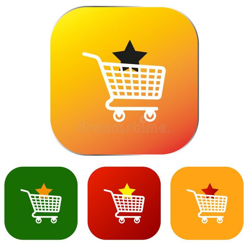 Σύνολο κουμπιών ή εικονιδίων αγορών Ιστού διανυσματική απεικόνιση