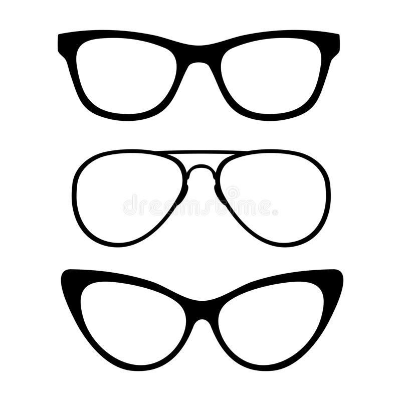 Σύνολο κλασικών γυαλιών ελεύθερη απεικόνιση δικαιώματος