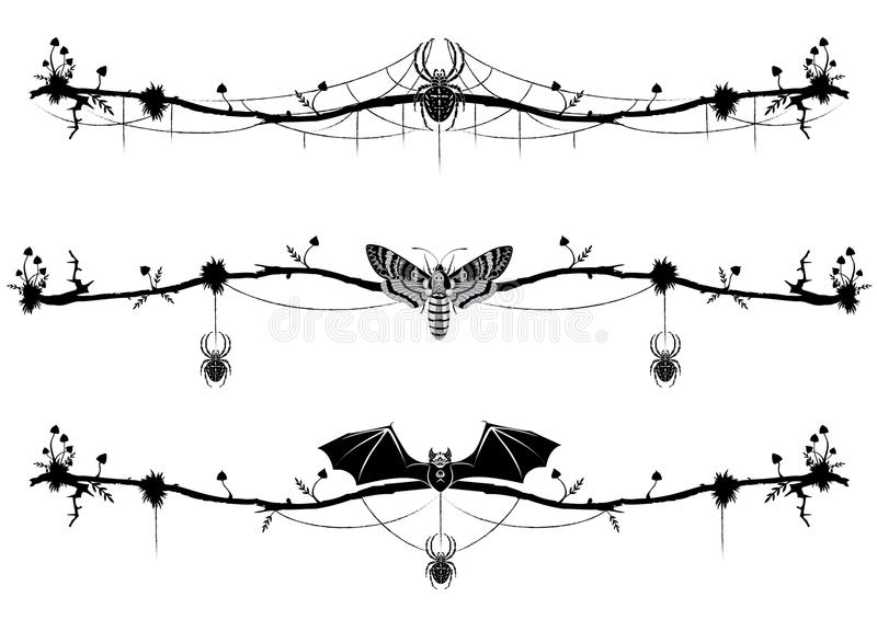 Σύνολο μαγικών σύντομων χρονογραφημάτων διανυσματική απεικόνιση