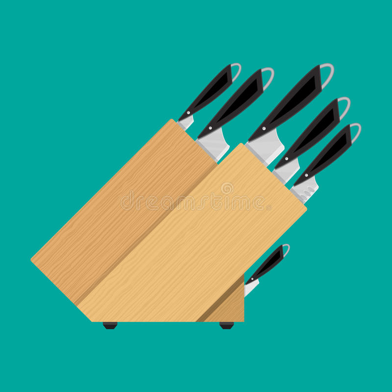 Σύνολο μαχαιριών κουζινών για τα διάφορα προϊόντα απεικόνιση αποθεμάτων