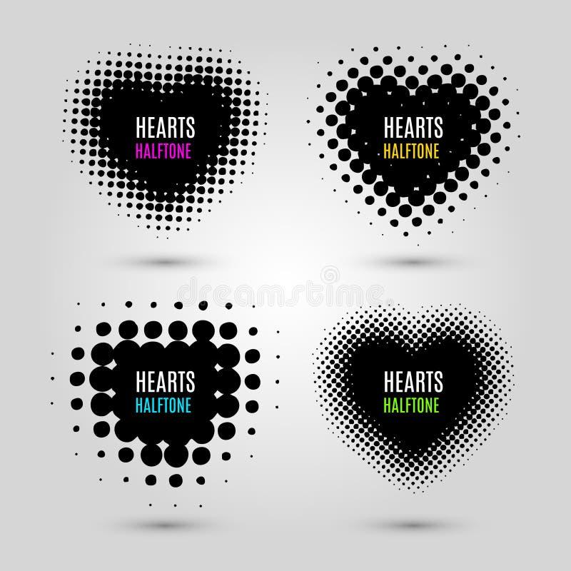Σύνολο με τις ημίτοές καρδιές ελεύθερη απεικόνιση δικαιώματος