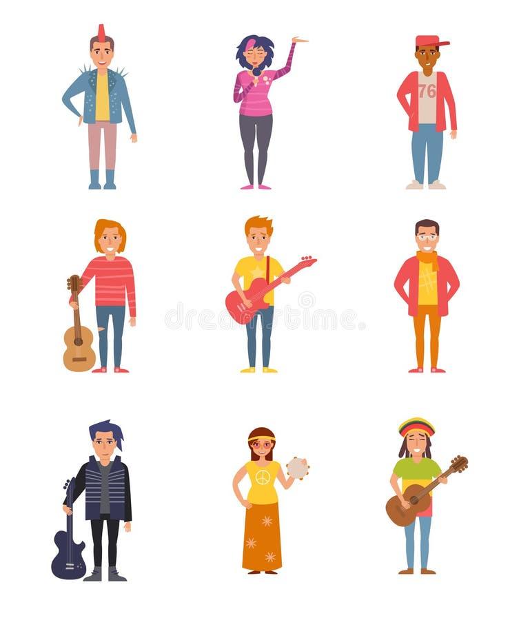 Σύνολο με τους ανθρώπους των διαφορετικών υποομάδων απεικόνιση αποθεμάτων