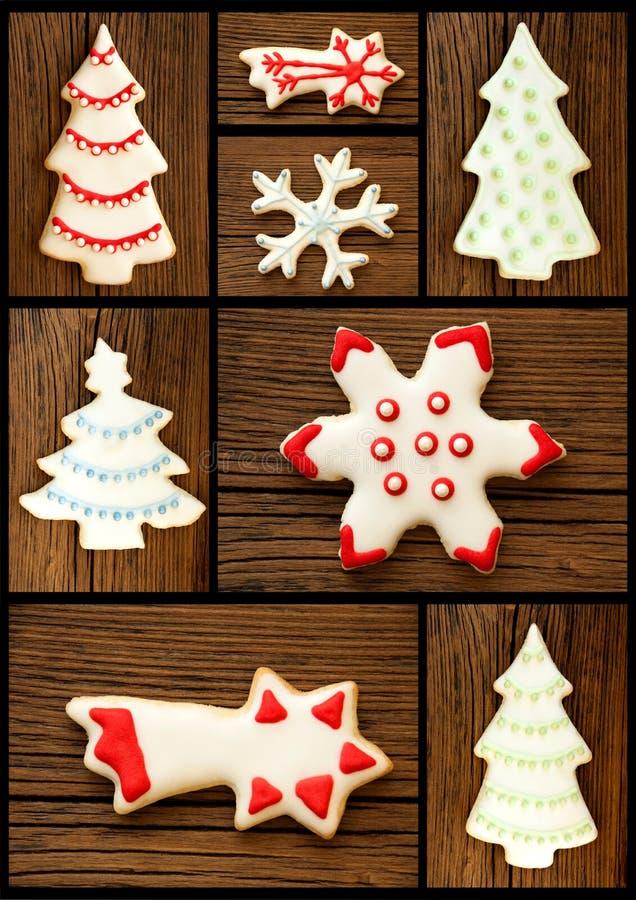 Σύνολο μπισκότων Χριστουγέννων στοκ φωτογραφία με δικαίωμα ελεύθερης χρήσης