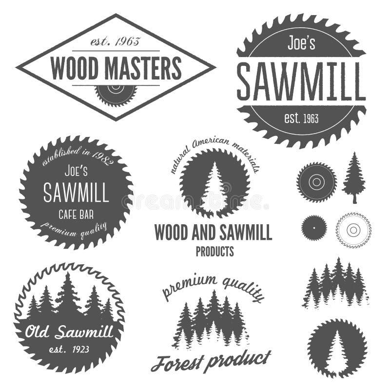 Σύνολο λογότυπου, ετικετών, διακριτικών και logotype στοιχείων διανυσματική απεικόνιση