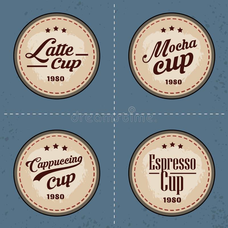 Download Σύνολο λογότυπου και στοιχείων καφέ στο εκλεκτής ποιότητας ύφος Διανυσματική απεικόνιση - εικονογραφία από ετικέτα, ποτό: 62720681