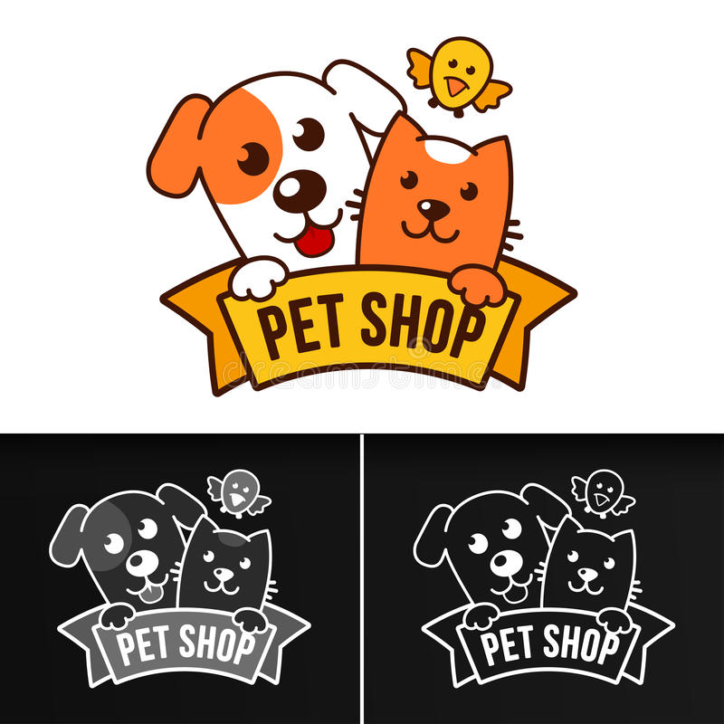 Σύνολο λογότυπων καταστημάτων της Pet στοκ φωτογραφία
