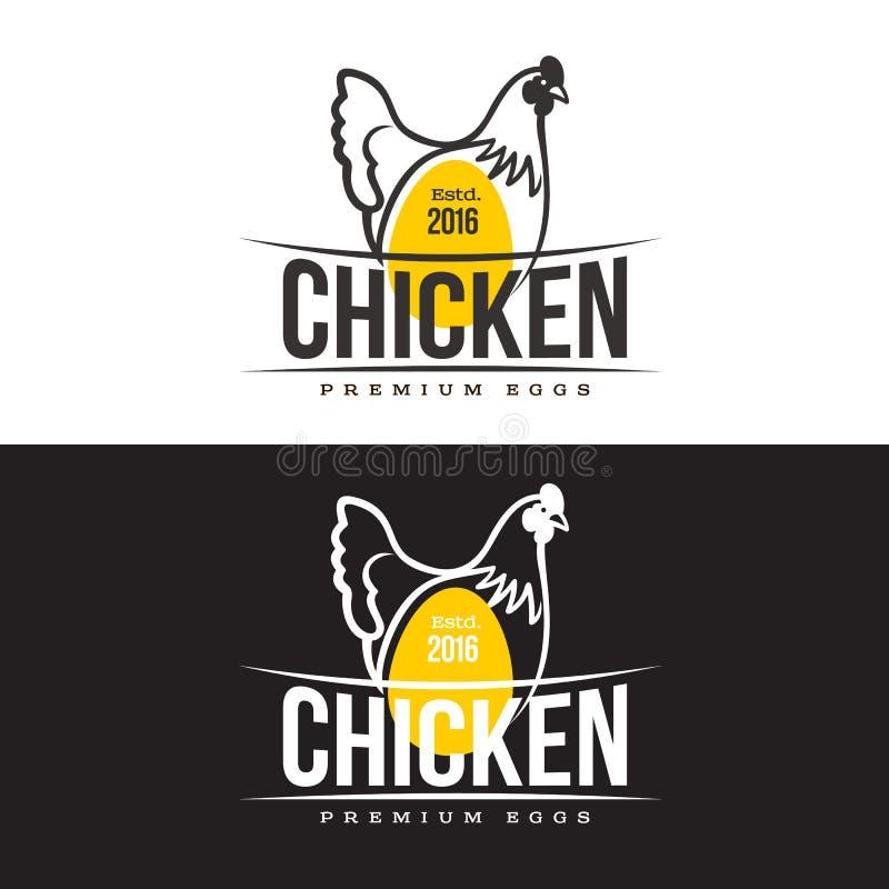 Σύνολο λογότυπων με το κοτόπουλο ελεύθερη απεικόνιση δικαιώματος
