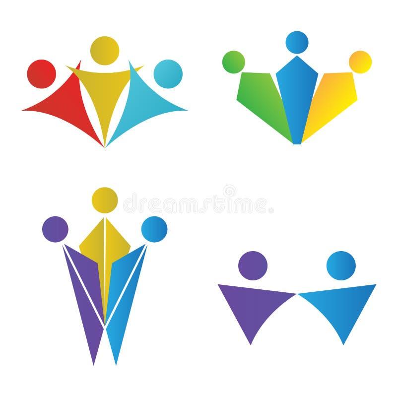 Σύνολο λογότυπων ομαδικής εργασίας απεικόνιση αποθεμάτων