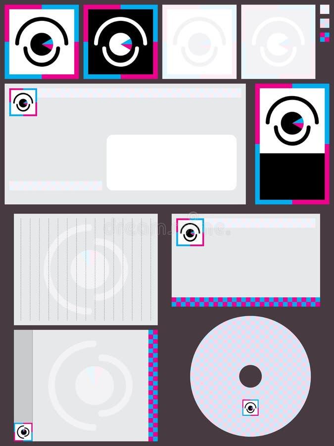 Σύνολο λογότυπων οράματος διανυσματική απεικόνιση