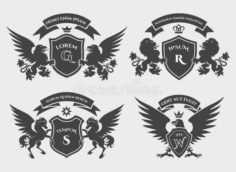 Σύνολο λογότυπων λόφων απεικόνιση αποθεμάτων