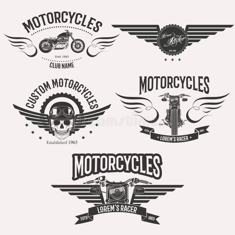 Σύνολο λογότυπων Morocycle στοκ εικόνες