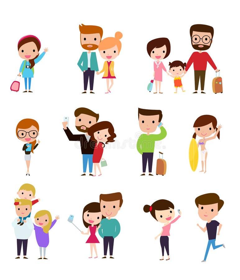 Σύνολο ομάδας ανθρώπων διανυσματική απεικόνιση