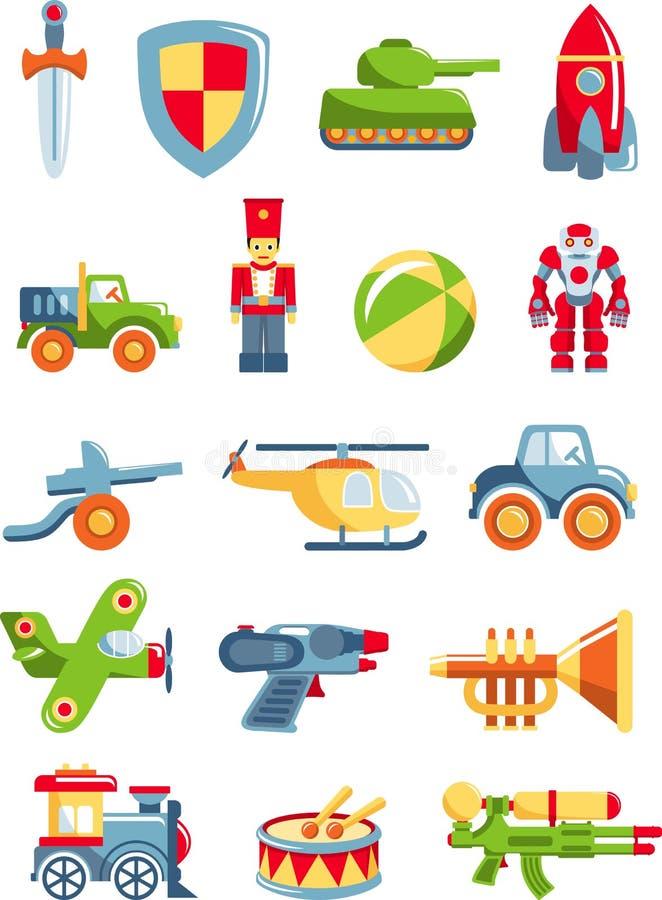 Σύνολο παιχνιδιών για τα αγόρια διανυσματική απεικόνιση