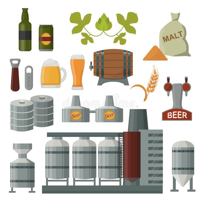 Σύνολο παραγωγής μπύρας απεικόνιση αποθεμάτων