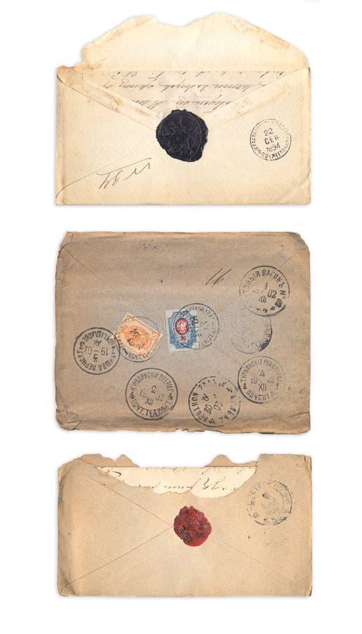 Σύνολο παλαιών φακέλων στοκ εικόνα με δικαίωμα ελεύθερης χρήσης
