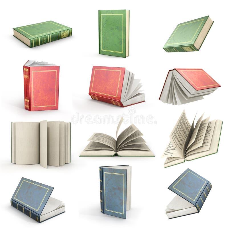 Σύνολο πετώντας ανοικτών βιβλίων ελεύθερη απεικόνιση δικαιώματος