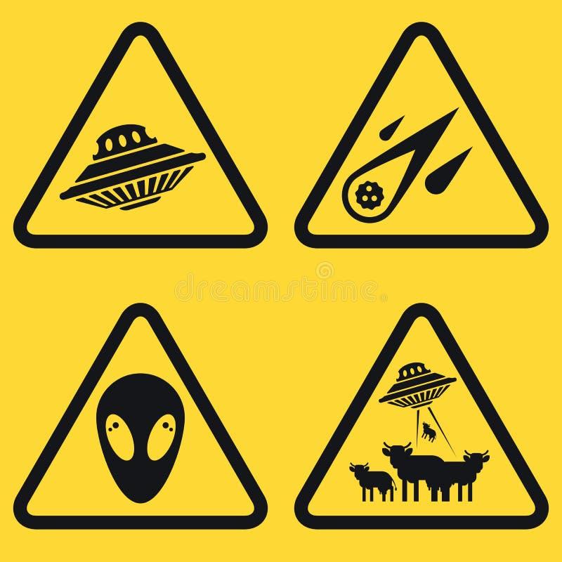 Σύνολο πιάτων προειδοποίησης ελεύθερη απεικόνιση δικαιώματος