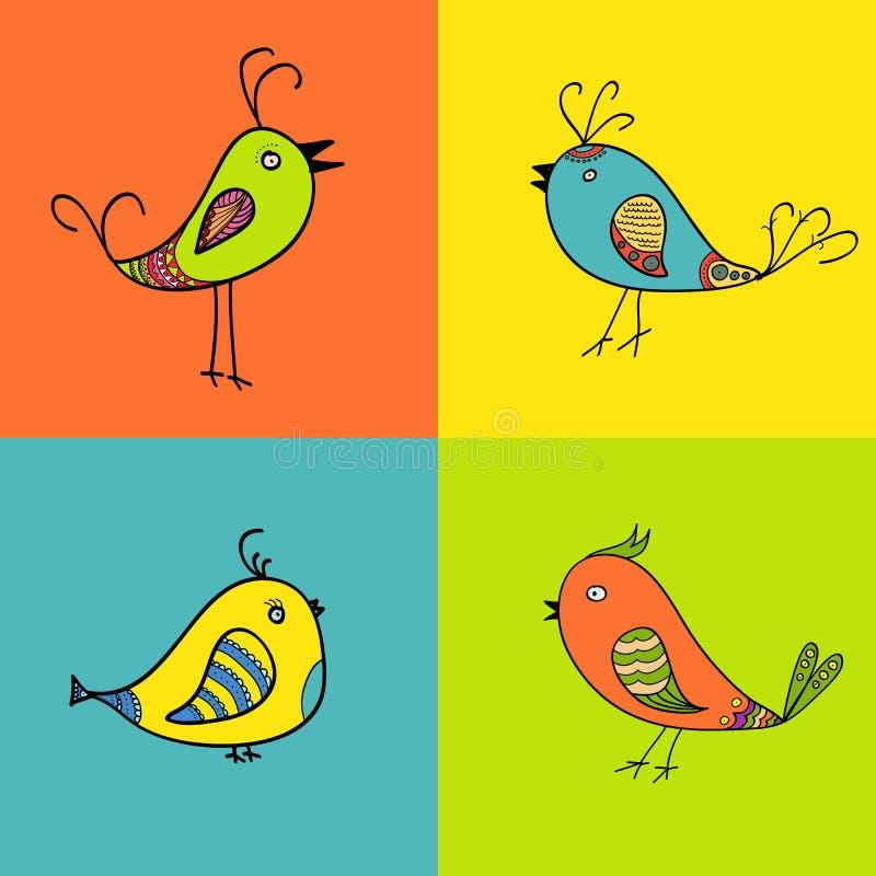 Σύνολο πουλιών χρώματος για το σχέδιο στοκ εικόνα με δικαίωμα ελεύθερης χρήσης