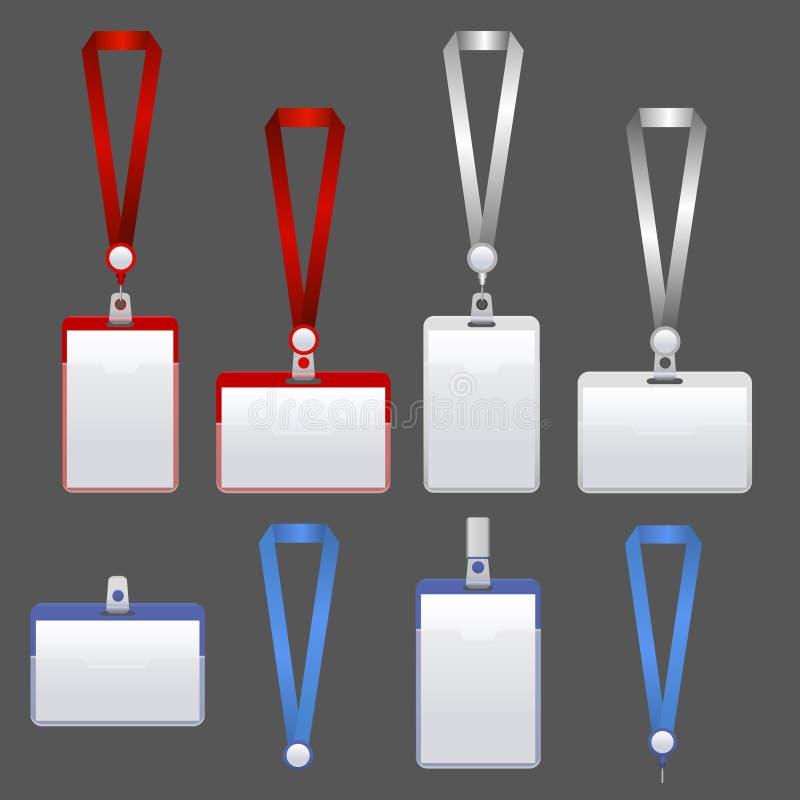 Σύνολο προσδιορισμού διακριτικών προτύπων διάνυσμα απεικόνιση αποθεμάτων