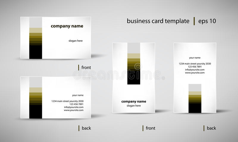 Σύνολο προτύπων επαγγελματικών καρτών διανυσματική απεικόνιση