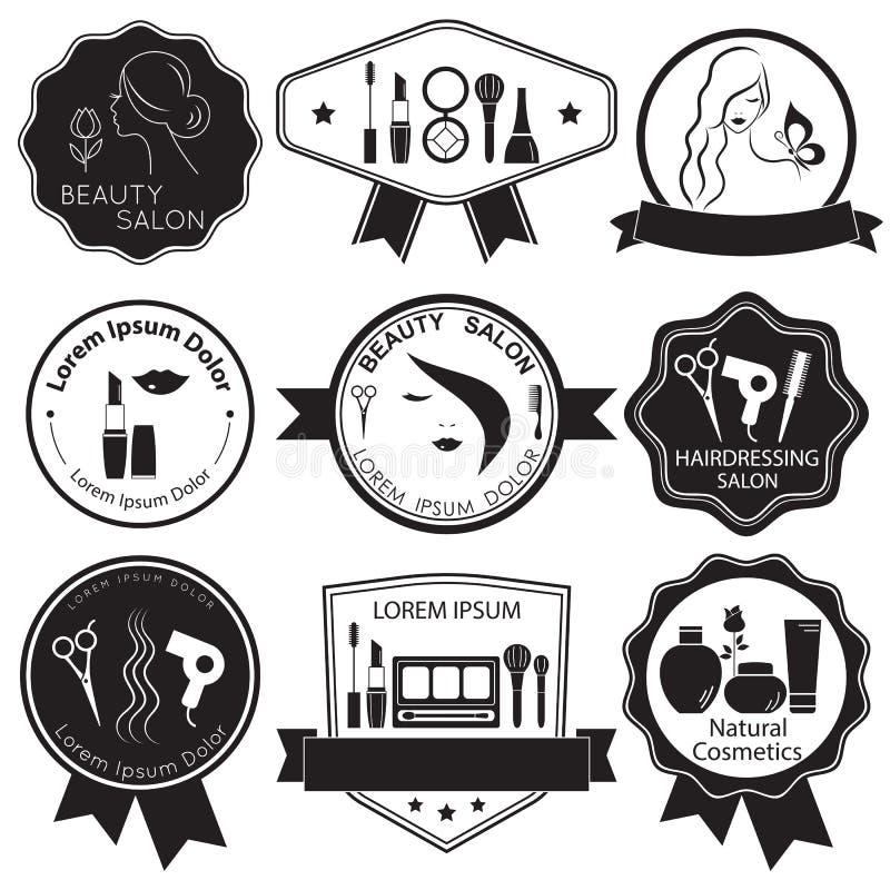 Σύνολο προτύπων λογότυπων ομορφιάς ελεύθερη απεικόνιση δικαιώματος