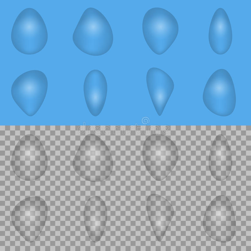 Σύνολο πτώσης νερού απεικόνιση αποθεμάτων