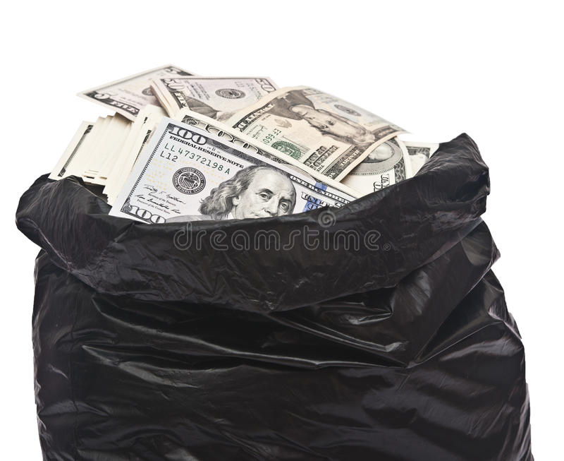 Σύνολο πλαστικών τσαντών των χρημάτων στοκ φωτογραφίες με δικαίωμα ελεύθερης χρήσης