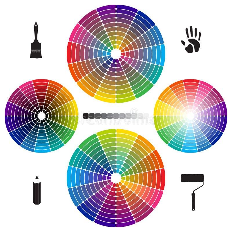 Σύνολο ροδών χρώματος ελεύθερη απεικόνιση δικαιώματος