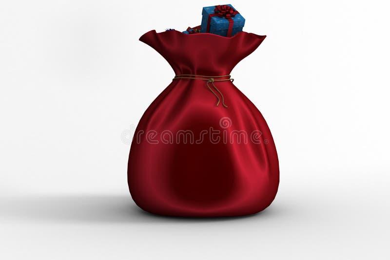 Σύνολο σάκων Santas των δώρων ελεύθερη απεικόνιση δικαιώματος