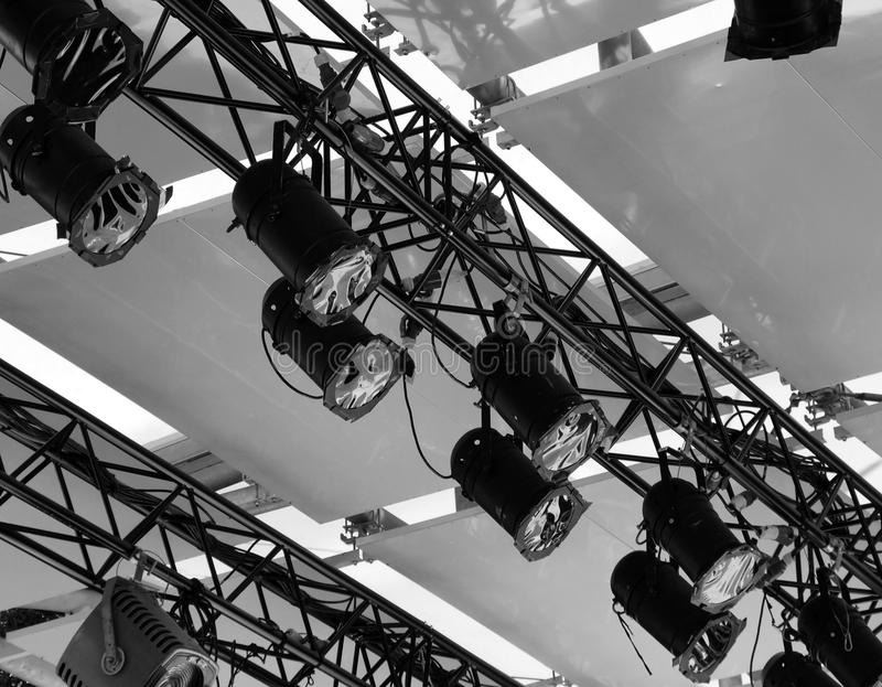 Σύνολο σκηνικού φωτός σε ένα θέατρο στοκ φωτογραφία με δικαίωμα ελεύθερης χρήσης