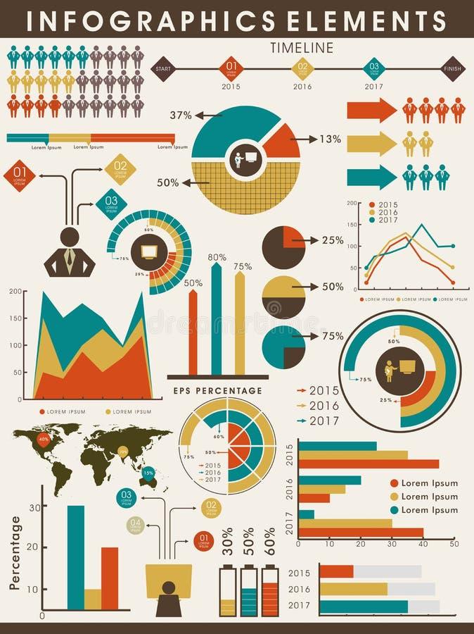 Σύνολο στοιχείων επιχειρησιακού infographics απεικόνιση αποθεμάτων