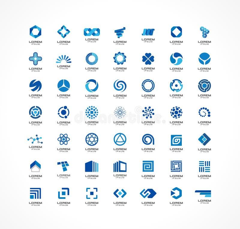 Σύνολο στοιχείων σχεδίου εικονιδίων Αφηρημένες ιδέες λογότυπων για την επιχειρησιακή επιχείρηση Χρηματοδότηση, επικοινωνία, eco,  ελεύθερη απεικόνιση δικαιώματος