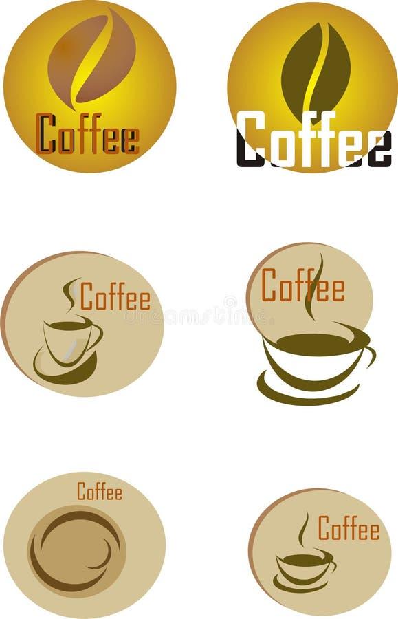 Σύνολο στοιχείων σχεδίου καφέ απεικόνιση αποθεμάτων