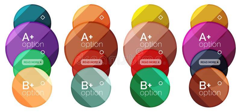 Σύνολο στρογγυλού προτύπου διαγραμμάτων επιλογής για τα στοιχεία ή τις επιλογές σας απεικόνιση αποθεμάτων