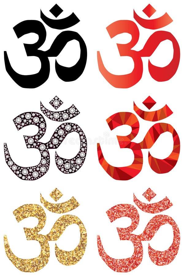 Σύνολο συμβόλων Hinduism διανυσματική απεικόνιση