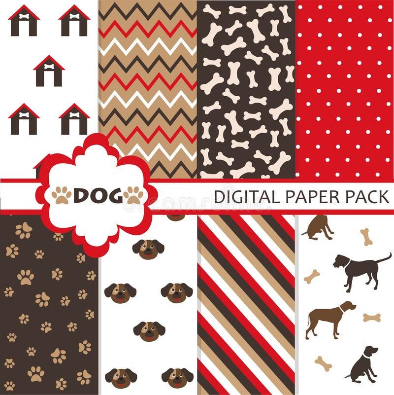 Σύνολο σχεδίου σκυλιών διανυσματική απεικόνιση